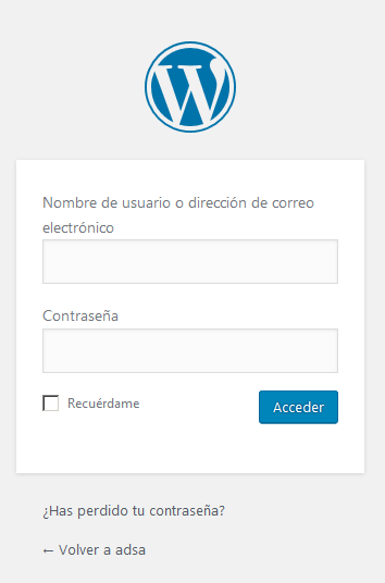 acceso a wordpress