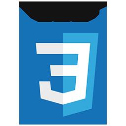 logo orginal de CSS 3
